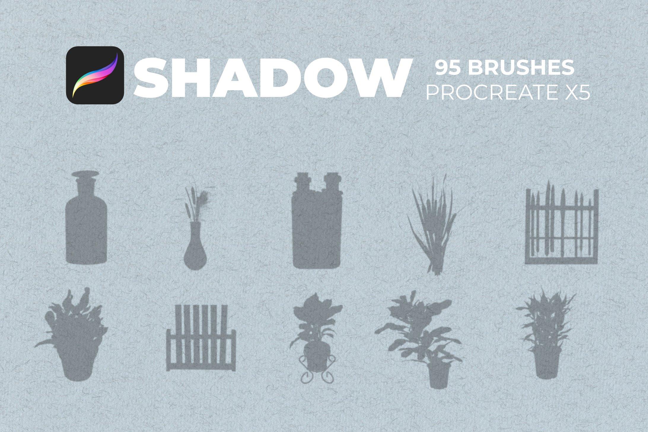 95款室内物品窗户自然阴影Precreate印章笔刷素材 95 Shadows For Precreate Brushes插图6