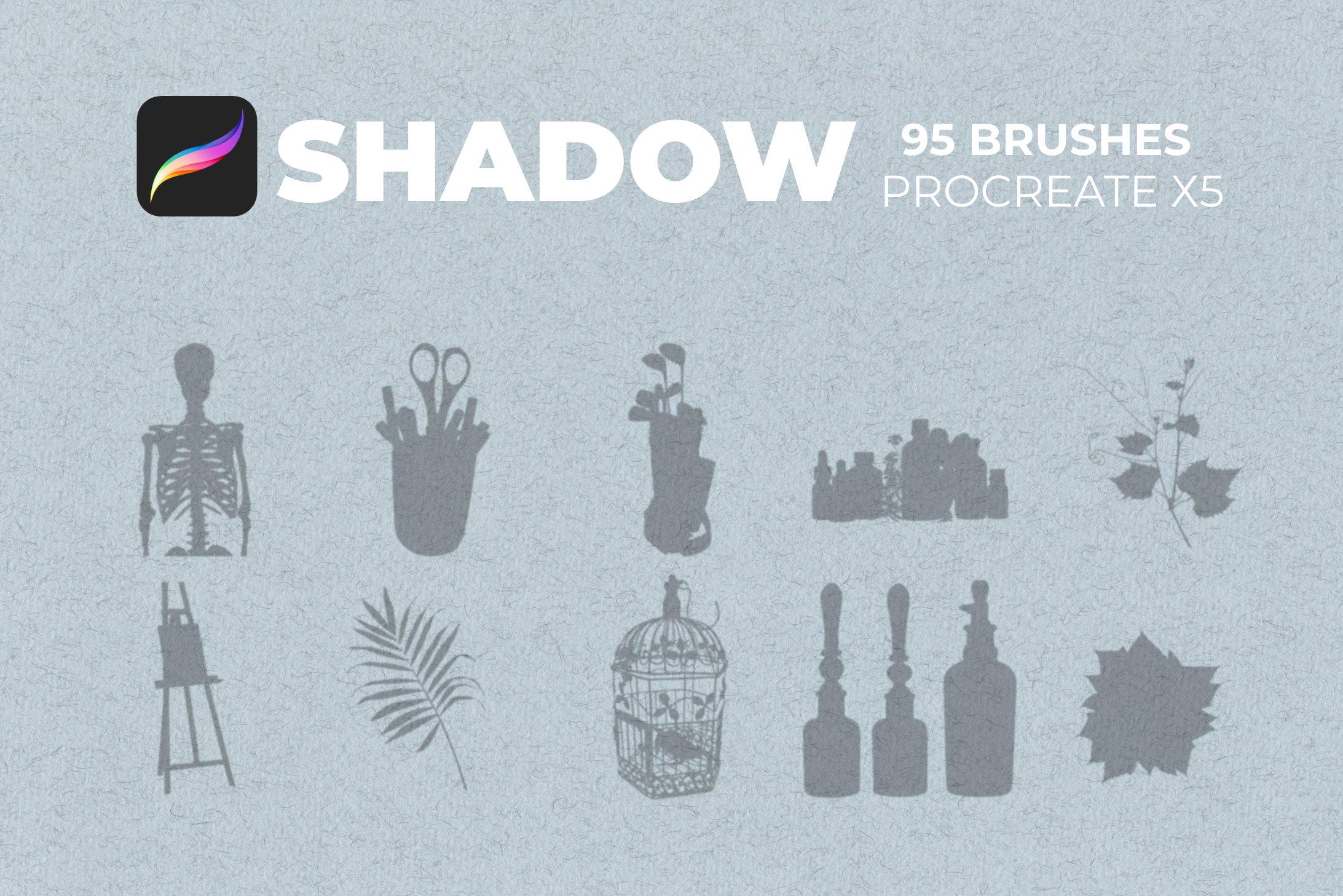 95款室内物品窗户自然阴影Precreate印章笔刷素材 95 Shadows For Precreate Brushes插图7