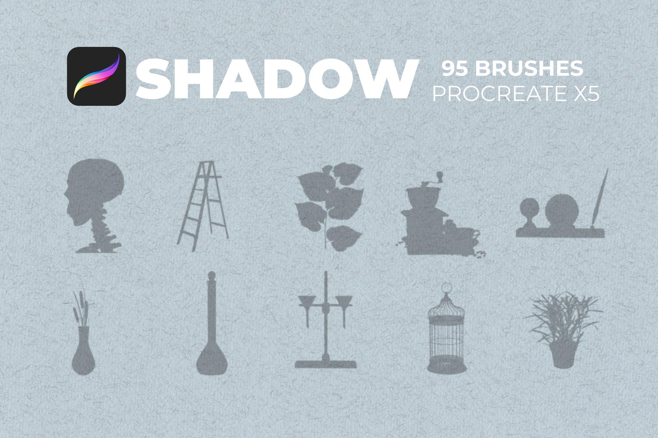 95款室内物品窗户自然阴影Precreate印章笔刷素材 95 Shadows For Precreate Brushes插图12