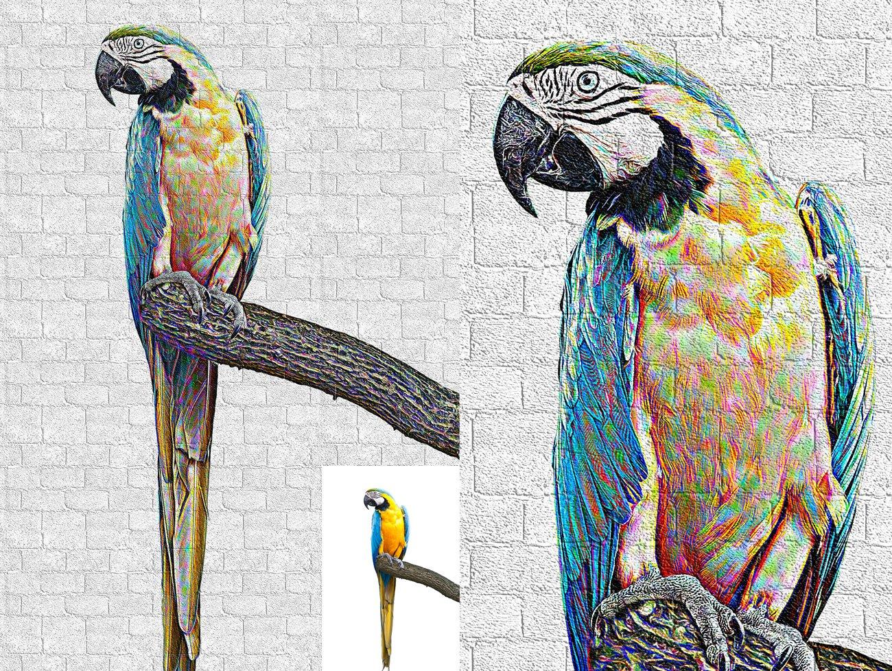 涂鸦艺术照片处理特效PS动作模板 Graffiti Art Photoshop Action插图4