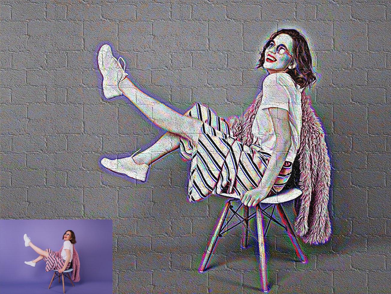 涂鸦艺术照片处理特效PS动作模板 Graffiti Art Photoshop Action插图15