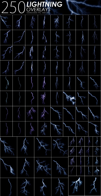 525款雷电暴雨水滴闪电暴风雪恶劣天气摄影视觉叠加背景底纹素材 525 Rain, Snow, Lightning Overlays插图4