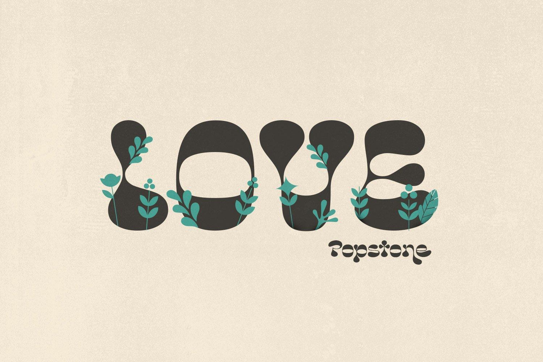 复古卡通幽默趣味品牌海报画册标题英文字体设计素材 Popstone – Groovy Variable Font插图4