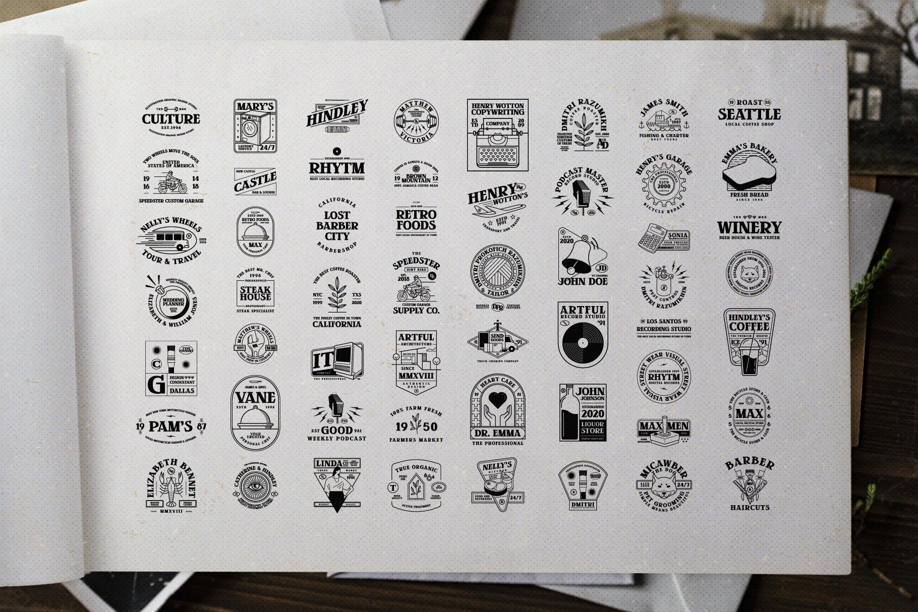 时尚复古封面标题徽标Logo衬线英文字体设计素材 Greatsby – The Good Store插图9