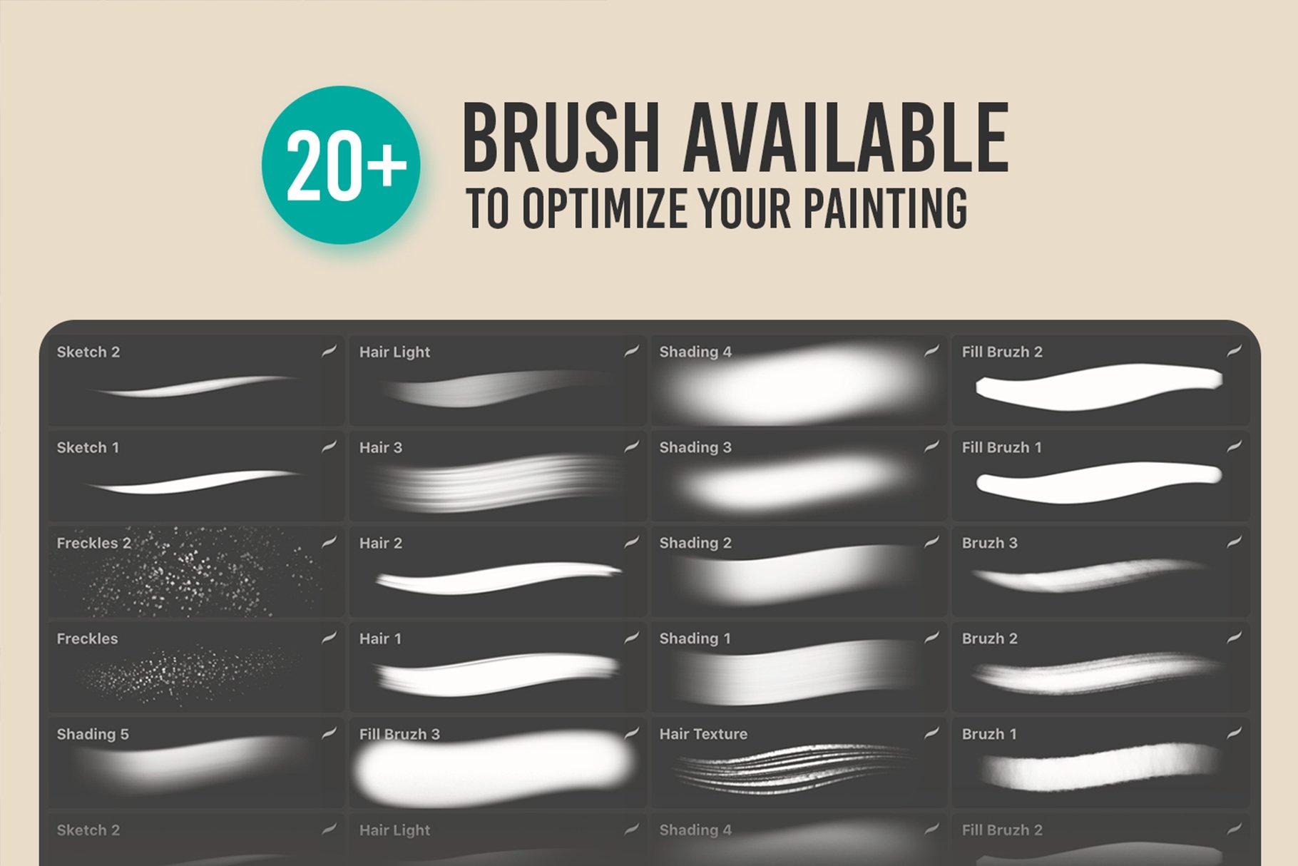 20款噪点颗粒艺术绘画iPadProcreate笔刷素材 MAGERPAINT – Procreate Brushes插图1