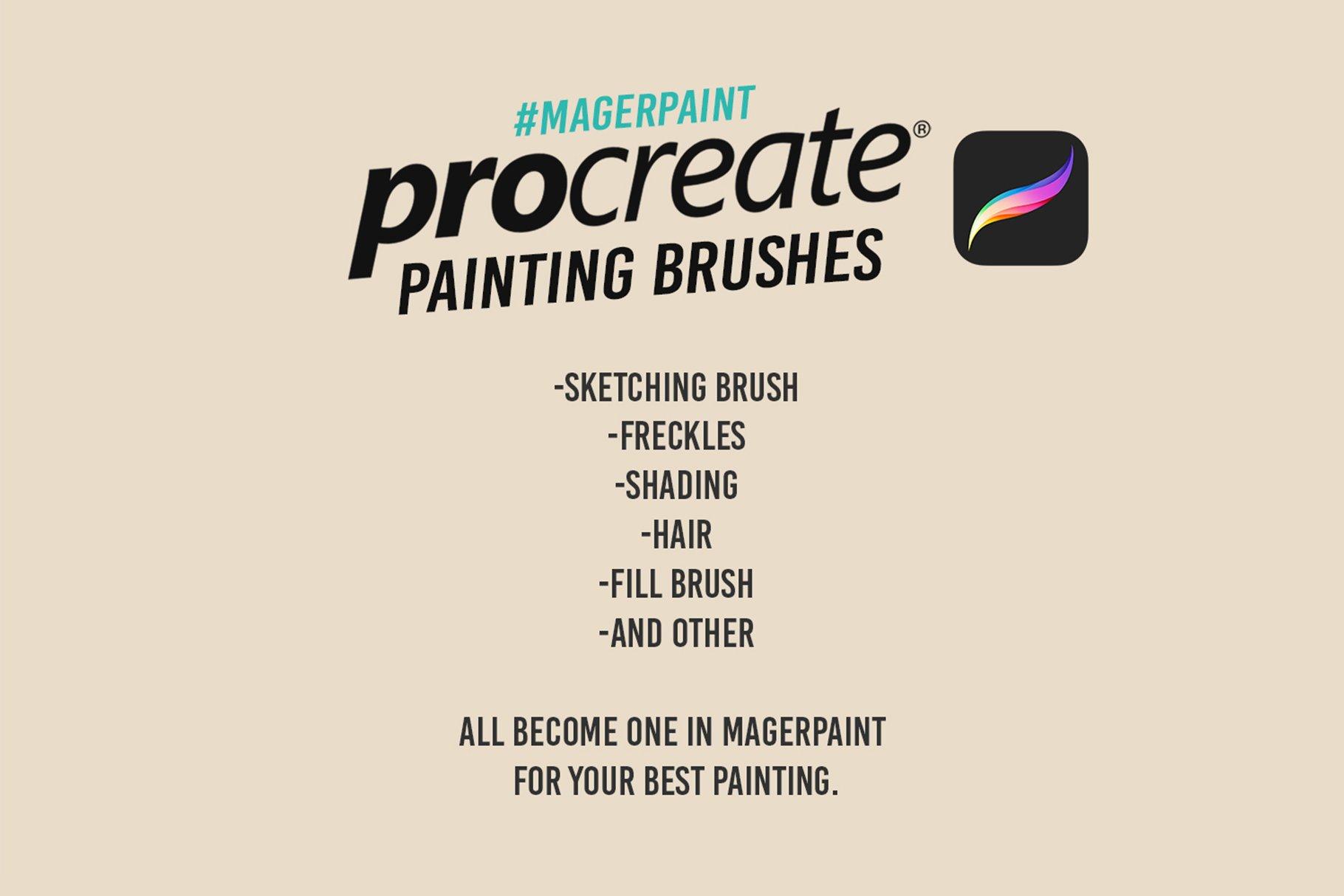 20款噪点颗粒艺术绘画iPadProcreate笔刷素材 MAGERPAINT – Procreate Brushes插图3