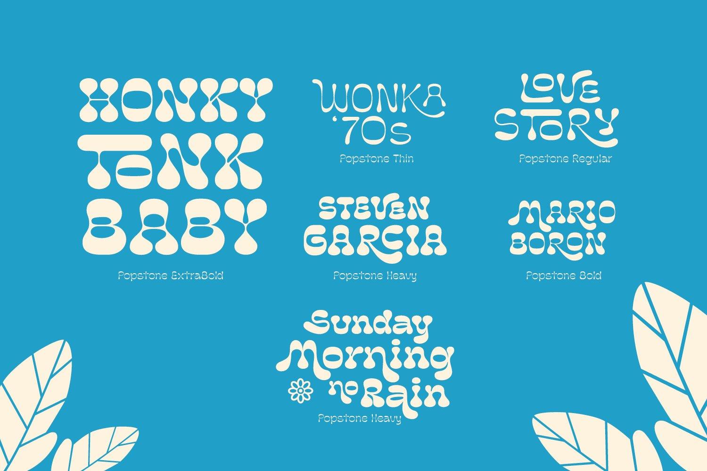 复古卡通幽默趣味品牌海报画册标题英文字体设计素材 Popstone – Groovy Variable Font插图8