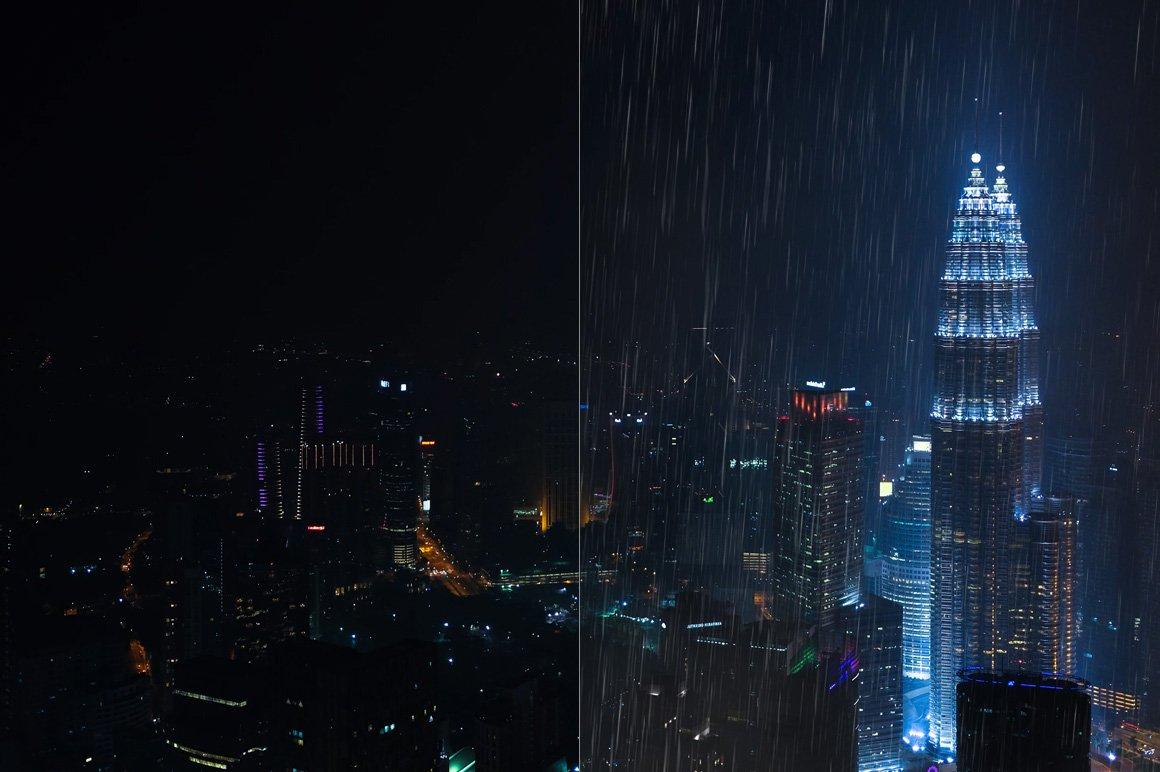 525款雷电暴雨水滴闪电暴风雪恶劣天气摄影视觉叠加背景底纹素材 525 Rain, Snow, Lightning Overlays插图10