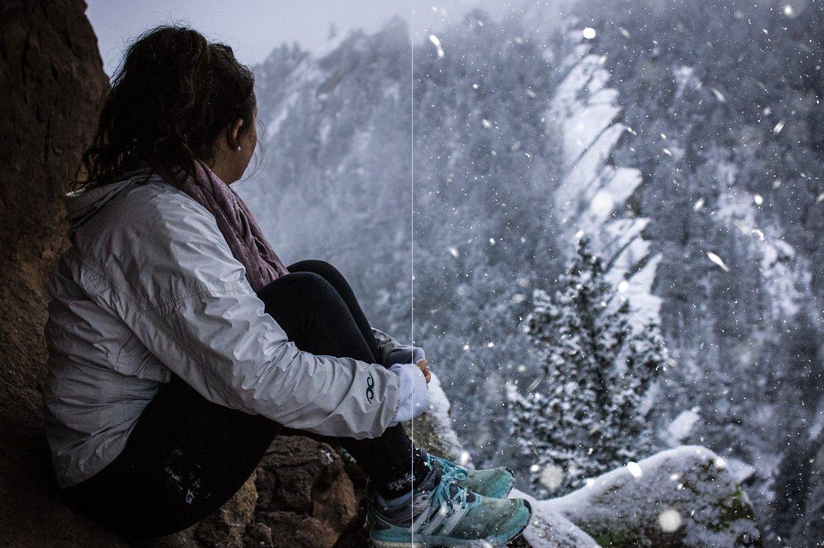 525款雷电暴雨水滴闪电暴风雪恶劣天气摄影视觉叠加背景底纹素材 525 Rain, Snow, Lightning Overlays插图13