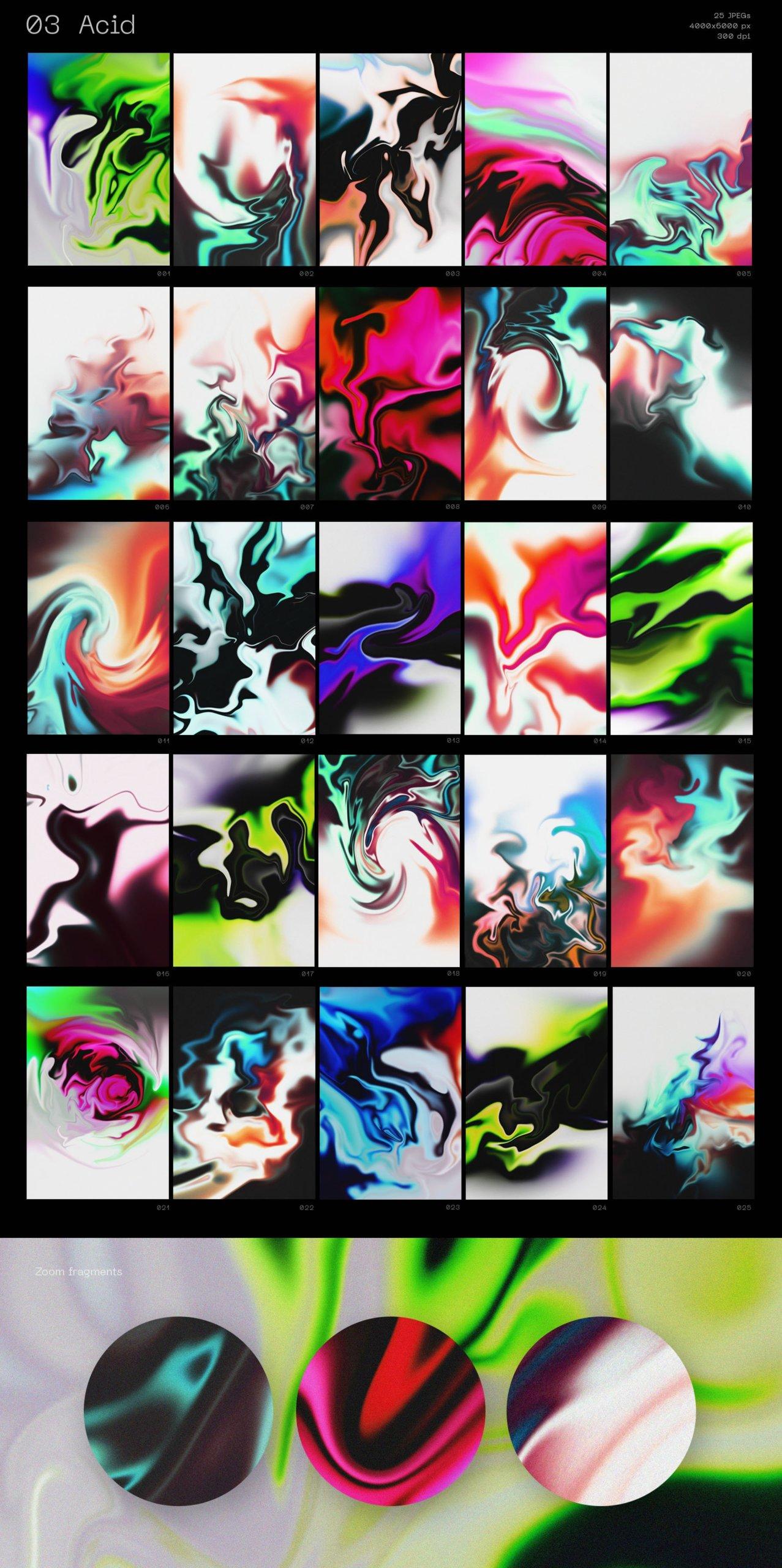 [单独购买] 潮流抽象粗糙划痕炫彩全息渐变油漆纹理背景图片矢量图案设计素材套装 Inartflow – Grafica Shapes Textures插图5