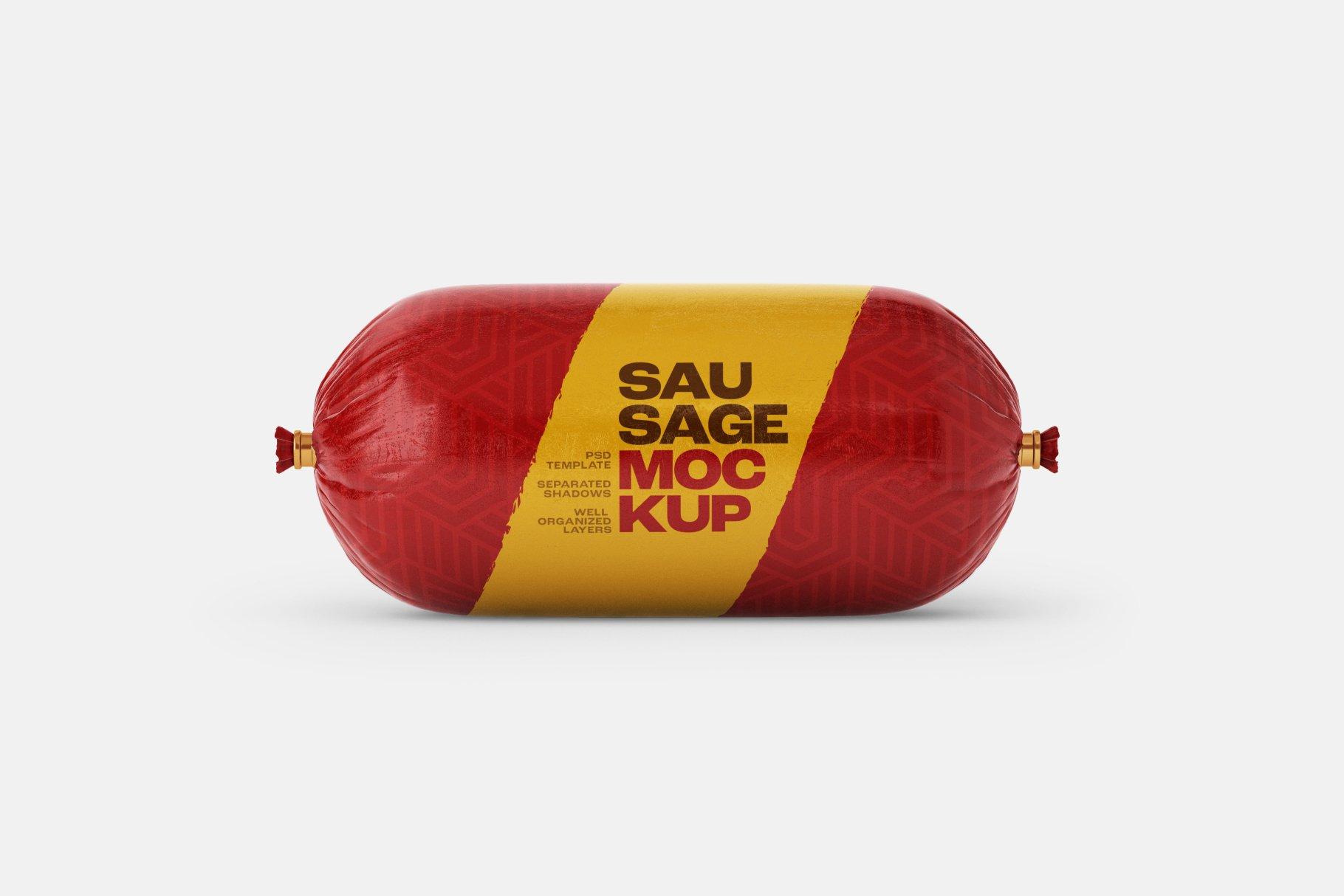 11款火腿肠香肠密封塑料袋设计展示贴图样机合集 Sausage Chub Mockup Set插图11