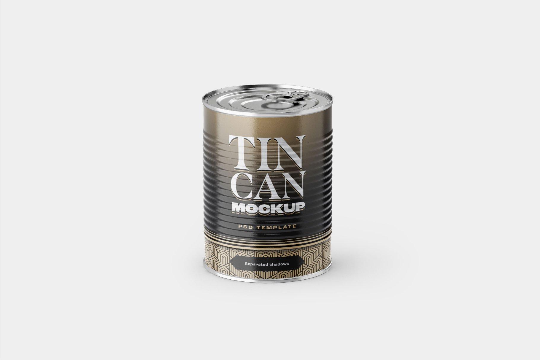 9款食品罐头金属锡罐包装样机模板素材合集 Tin Can Mockup Set | Conserve插图3