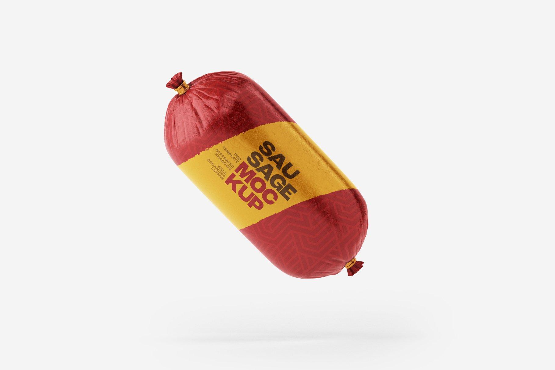 11款火腿肠香肠密封塑料袋设计展示贴图样机合集 Sausage Chub Mockup Set插图12