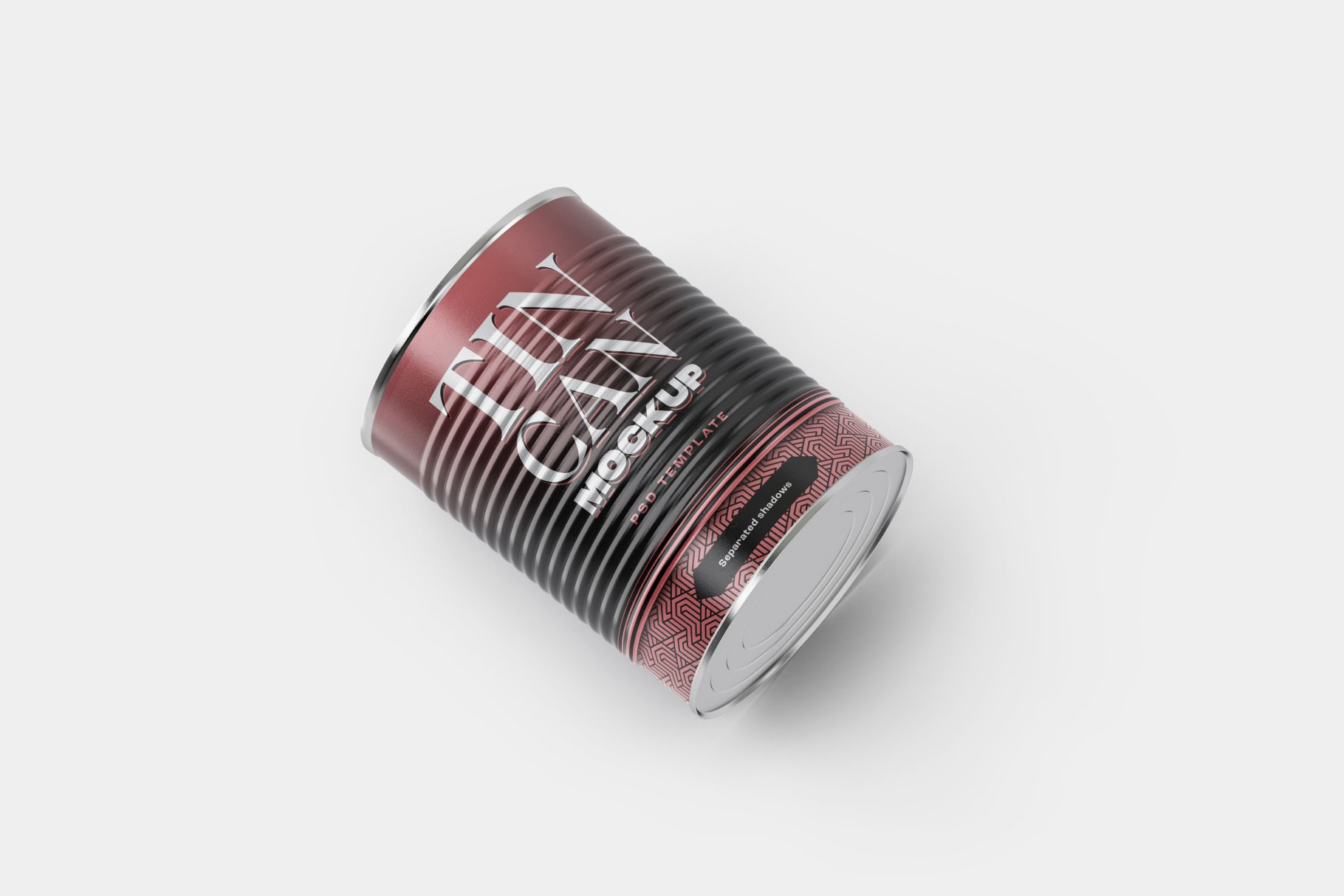 9款食品罐头金属锡罐包装样机模板素材合集 Tin Can Mockup Set | Conserve插图4