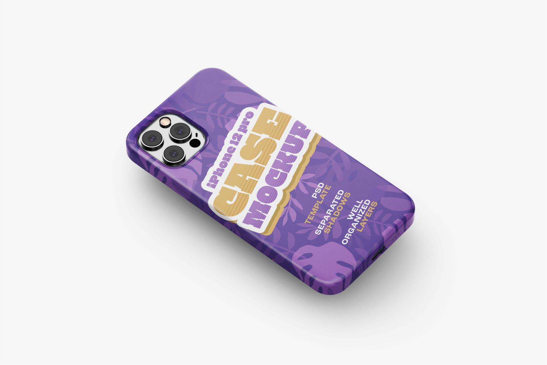 14款iPhone 12 Pro手机壳外观设计展示样机合集 iPhone 12 Pro Case Mockup Set插图10