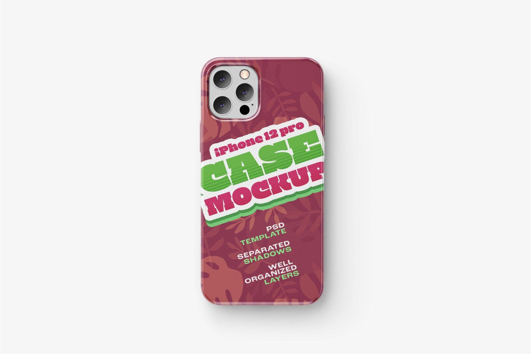 14款iPhone 12 Pro手机壳外观设计展示样机合集 iPhone 12 Pro Case Mockup Set插图12