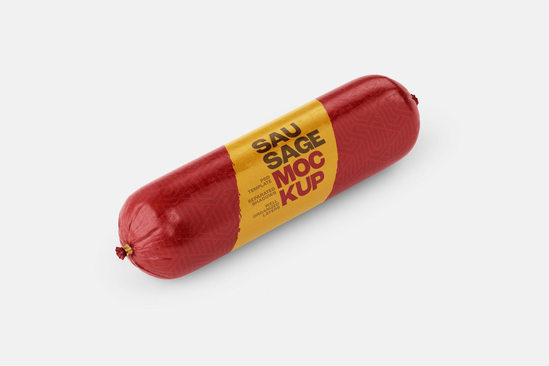 11款火腿肠香肠密封塑料袋设计展示贴图样机合集 Sausage Chub Mockup Set插图4