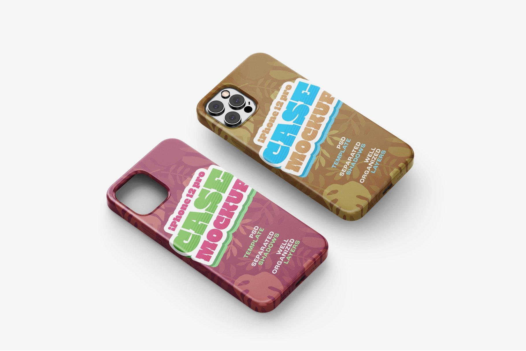 14款iPhone 12 Pro手机壳外观设计展示样机合集 iPhone 12 Pro Case Mockup Set插图13