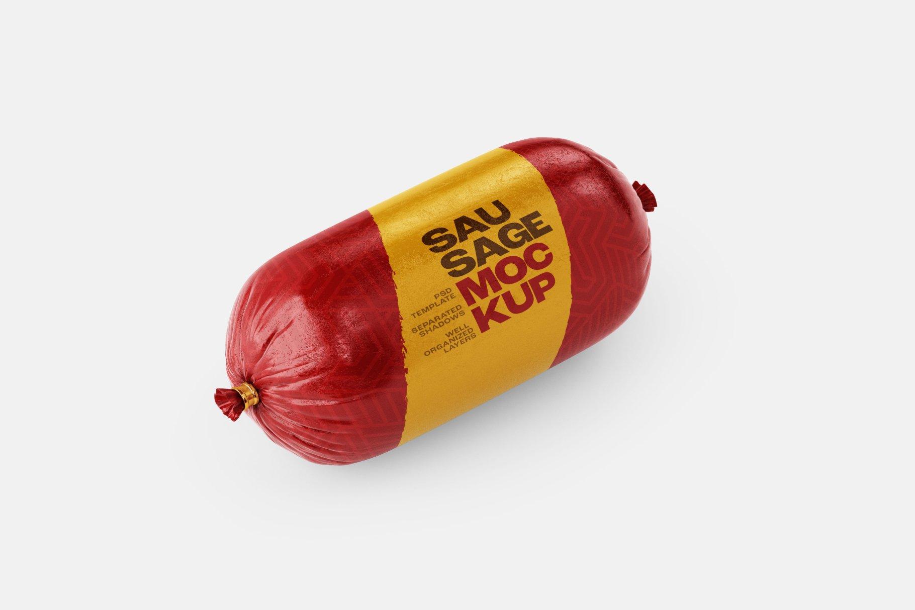 11款火腿肠香肠密封塑料袋设计展示贴图样机合集 Sausage Chub Mockup Set插图6