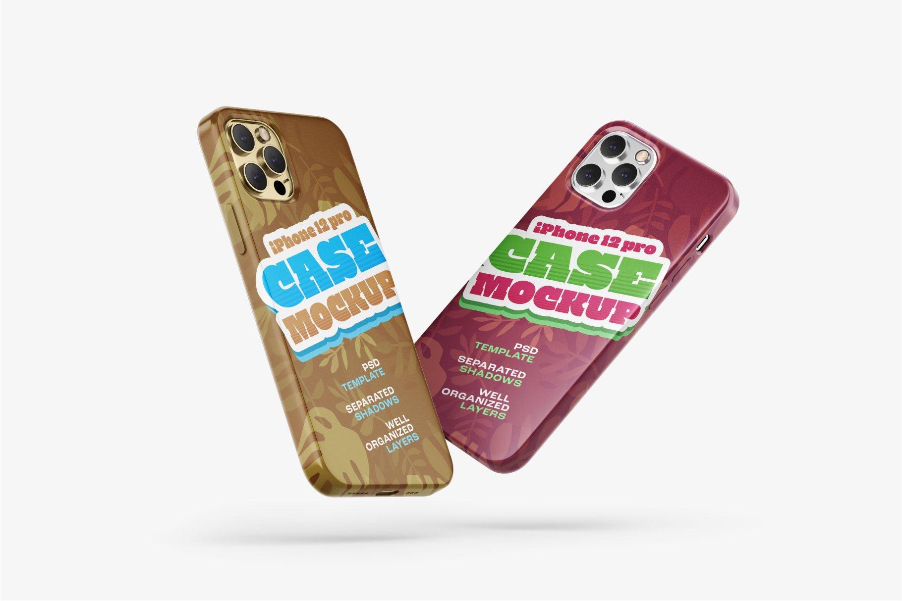 14款iPhone 12 Pro手机壳外观设计展示样机合集 iPhone 12 Pro Case Mockup Set插图3