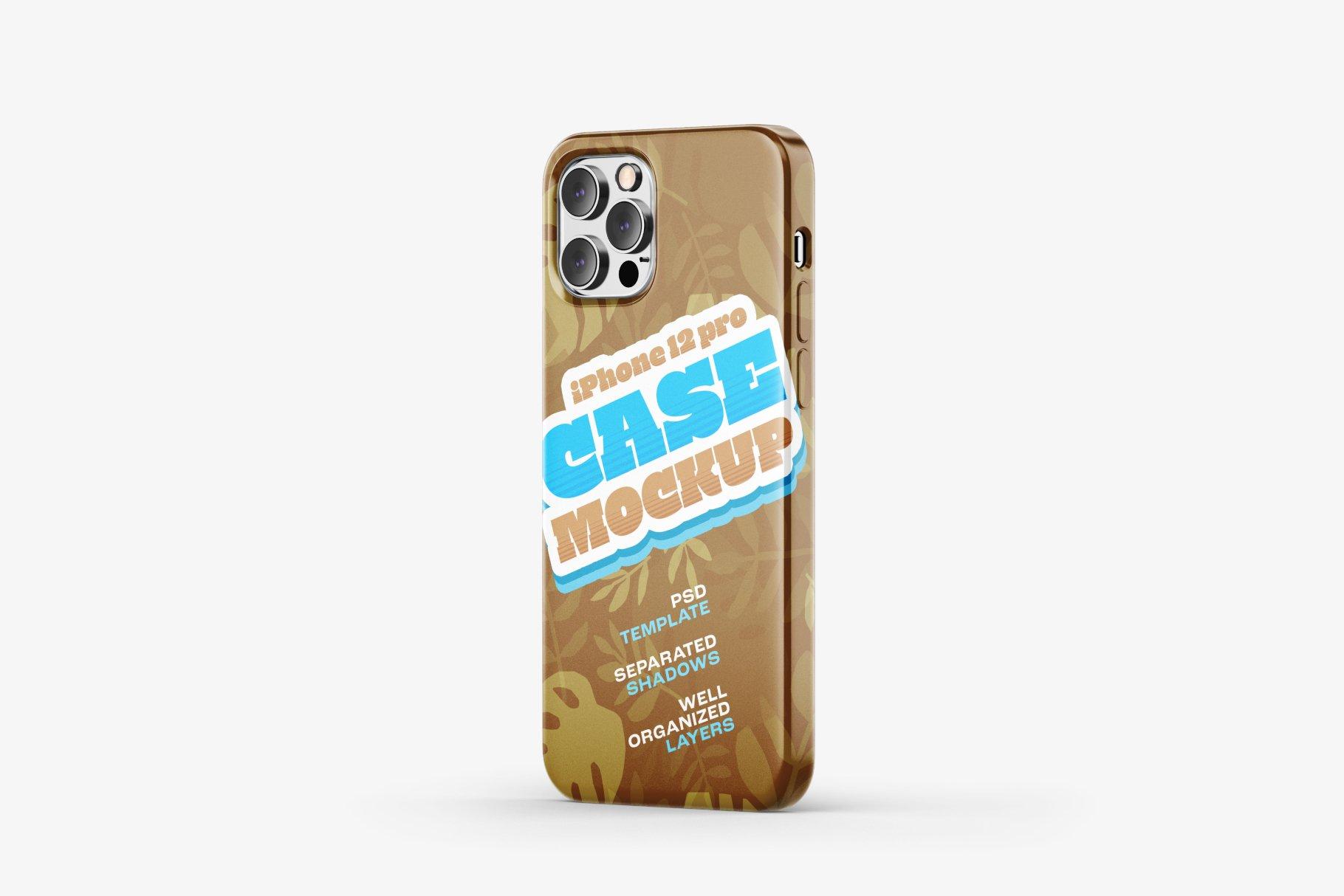 14款iPhone 12 Pro手机壳外观设计展示样机合集 iPhone 12 Pro Case Mockup Set插图5