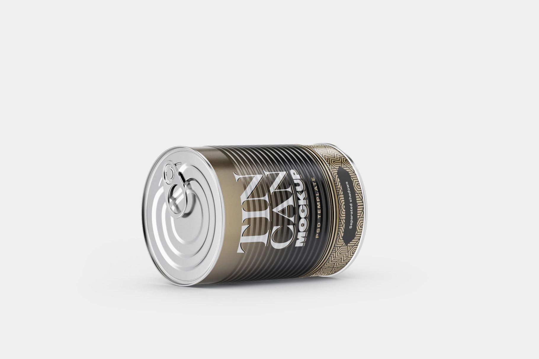 9款食品罐头金属锡罐包装样机模板素材合集 Tin Can Mockup Set | Conserve插图11