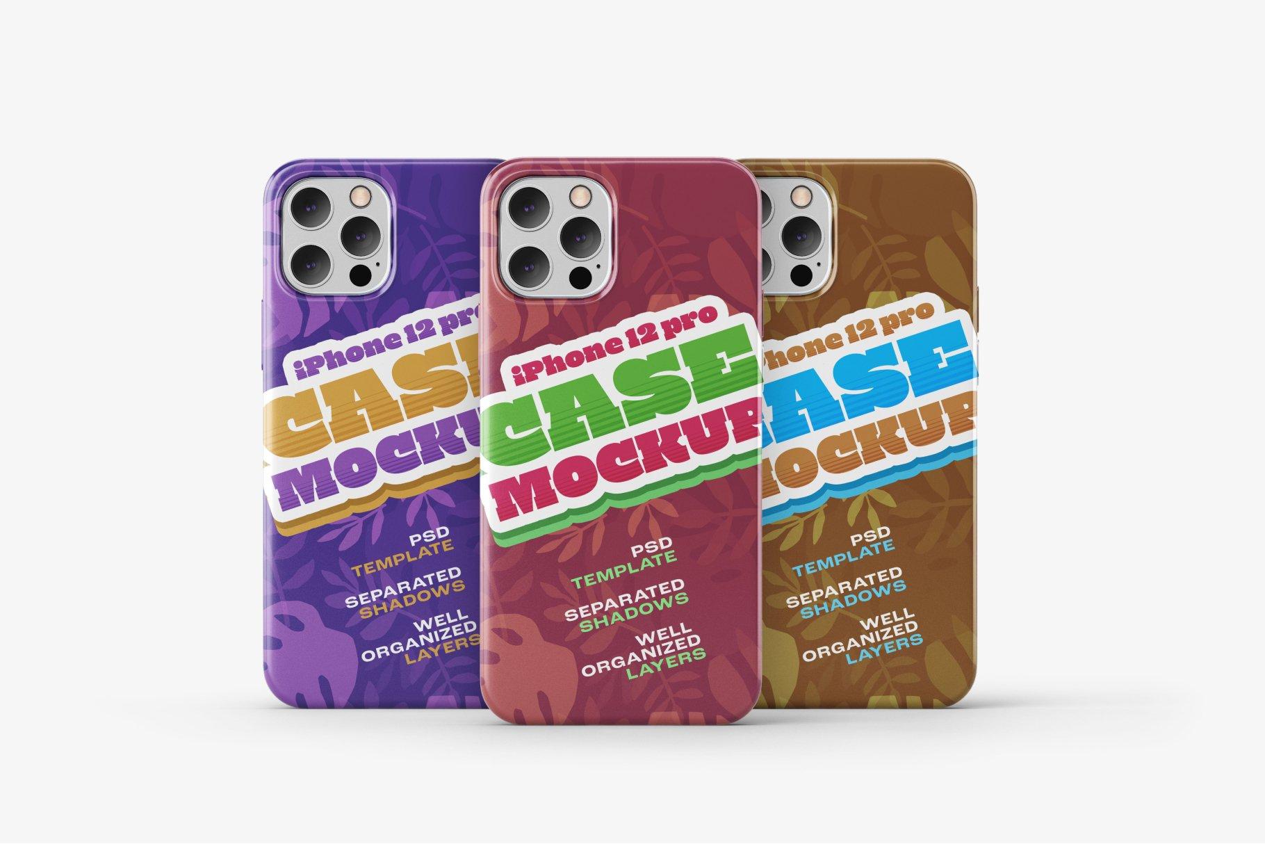 14款iPhone 12 Pro手机壳外观设计展示样机合集 iPhone 12 Pro Case Mockup Set插图6