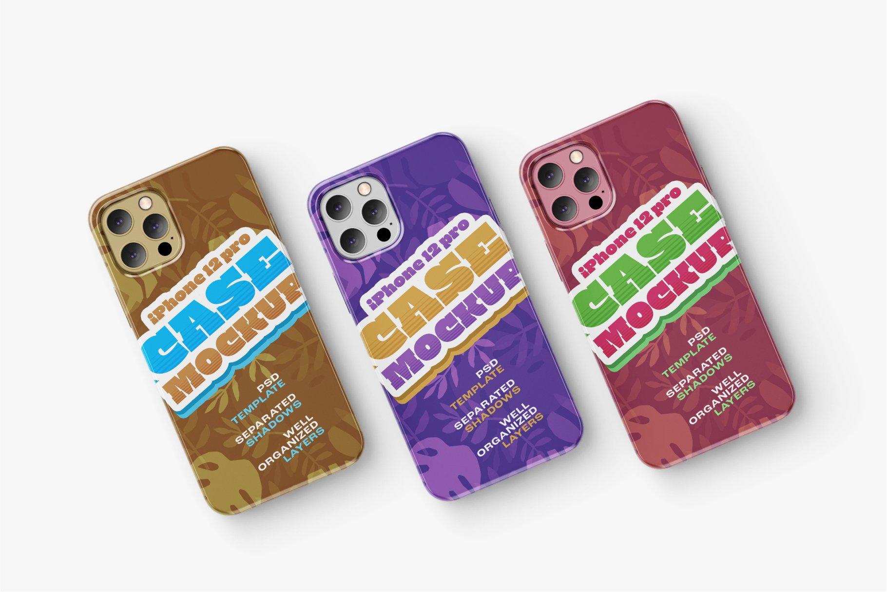 14款iPhone 12 Pro手机壳外观设计展示样机合集 iPhone 12 Pro Case Mockup Set插图7