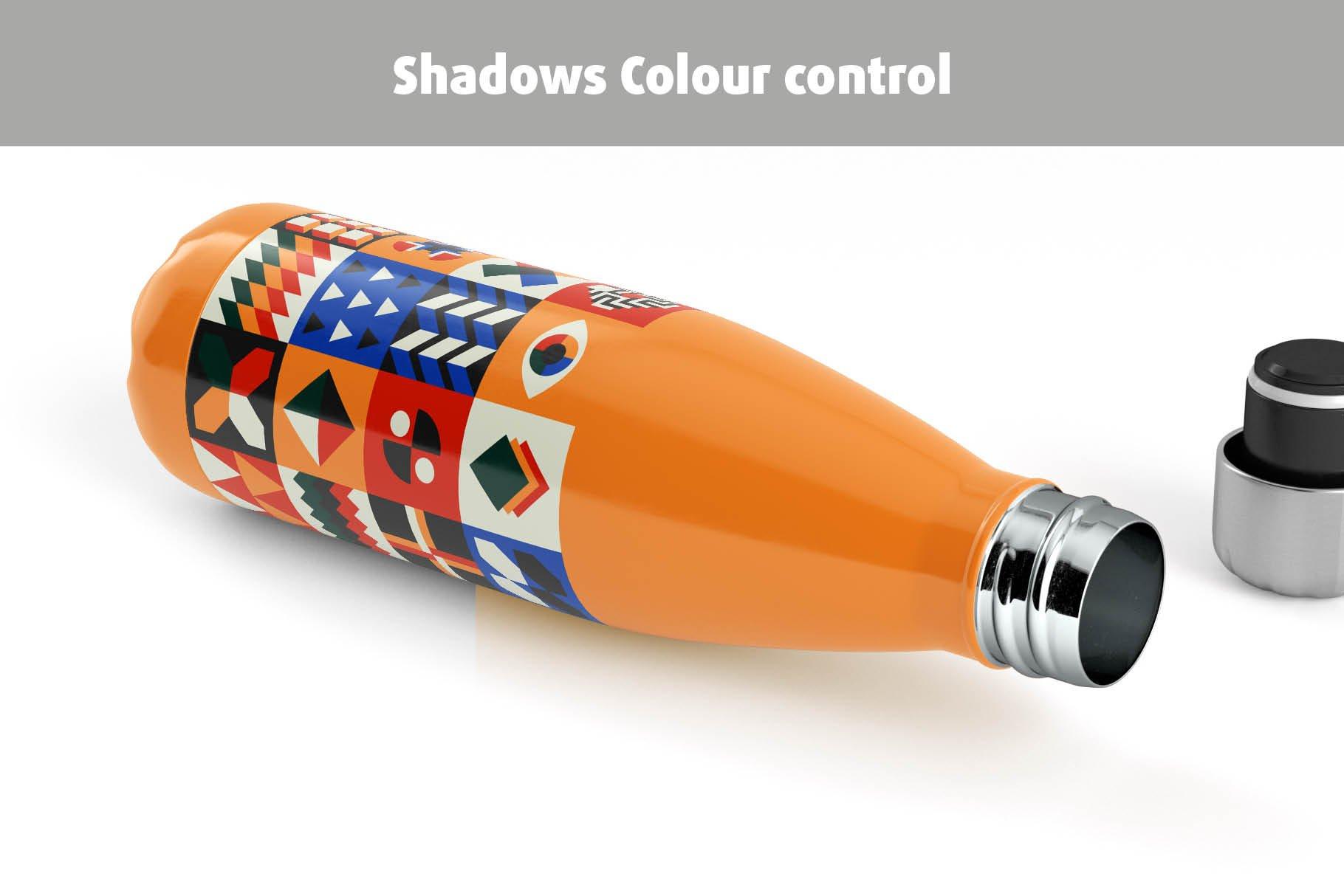 时尚不锈钢保温水瓶外观设计PS贴图样机 Stainless Steel Bottle Mock-up插图10
