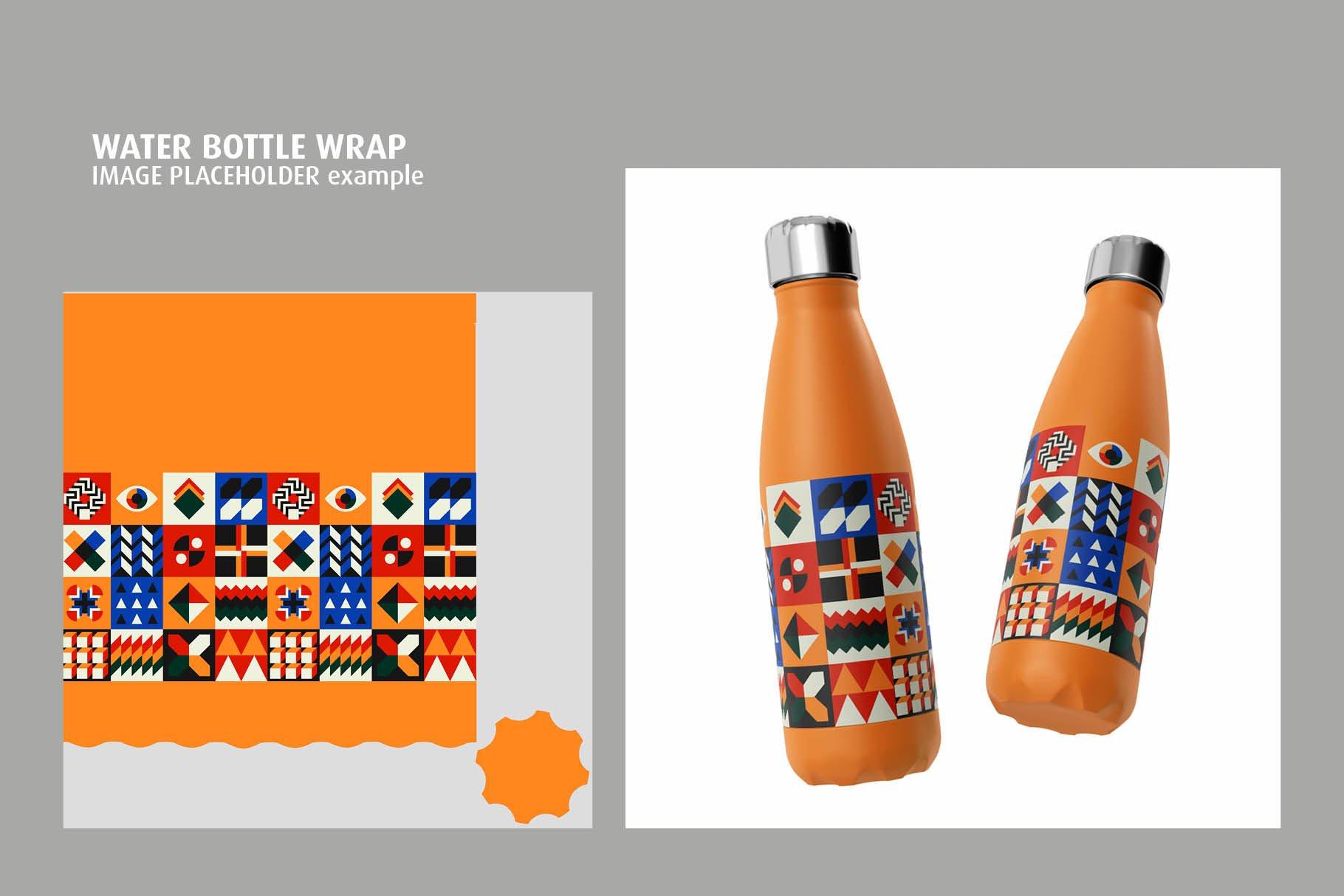 时尚不锈钢保温水瓶外观设计PS贴图样机 Stainless Steel Bottle Mock-up插图1