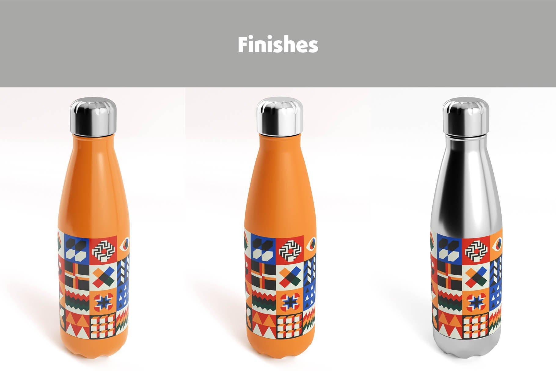 时尚不锈钢保温水瓶外观设计PS贴图样机 Stainless Steel Bottle Mock-up插图8
