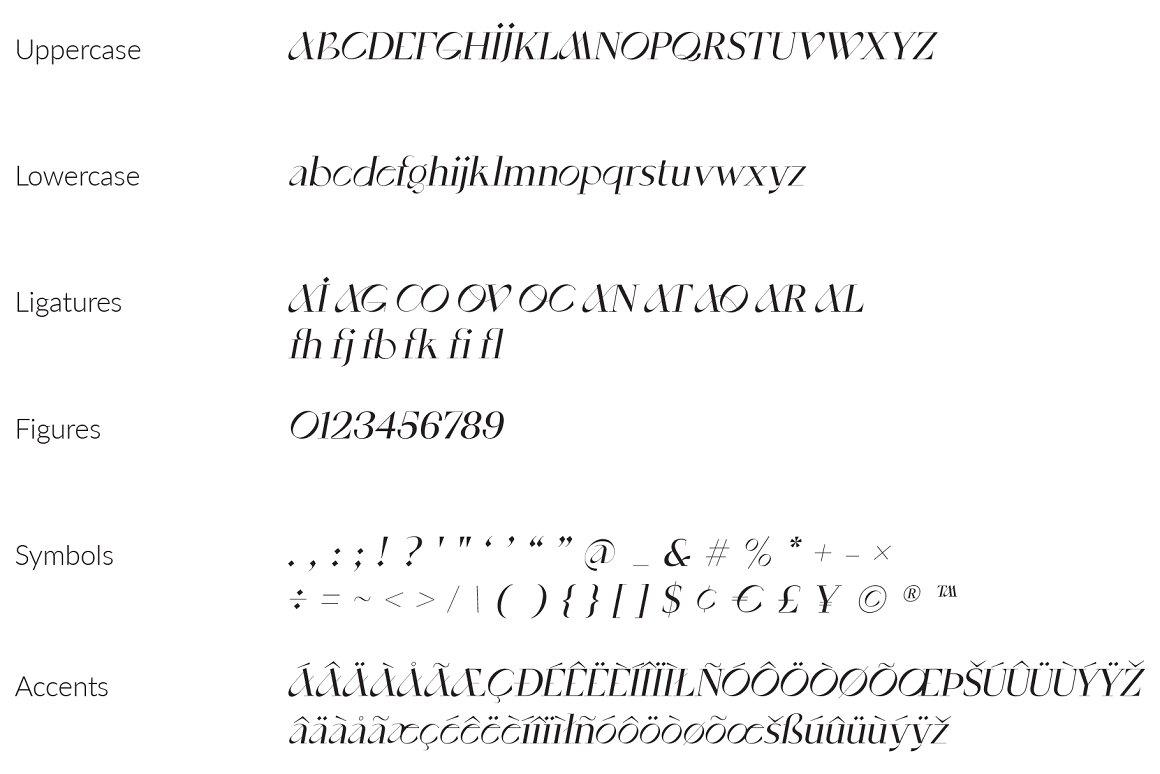现代优雅奢华杂志标题海报徽标Logo衬线酸性英文字体素材 SaintMonica – Elegant Ligatures Font插图9