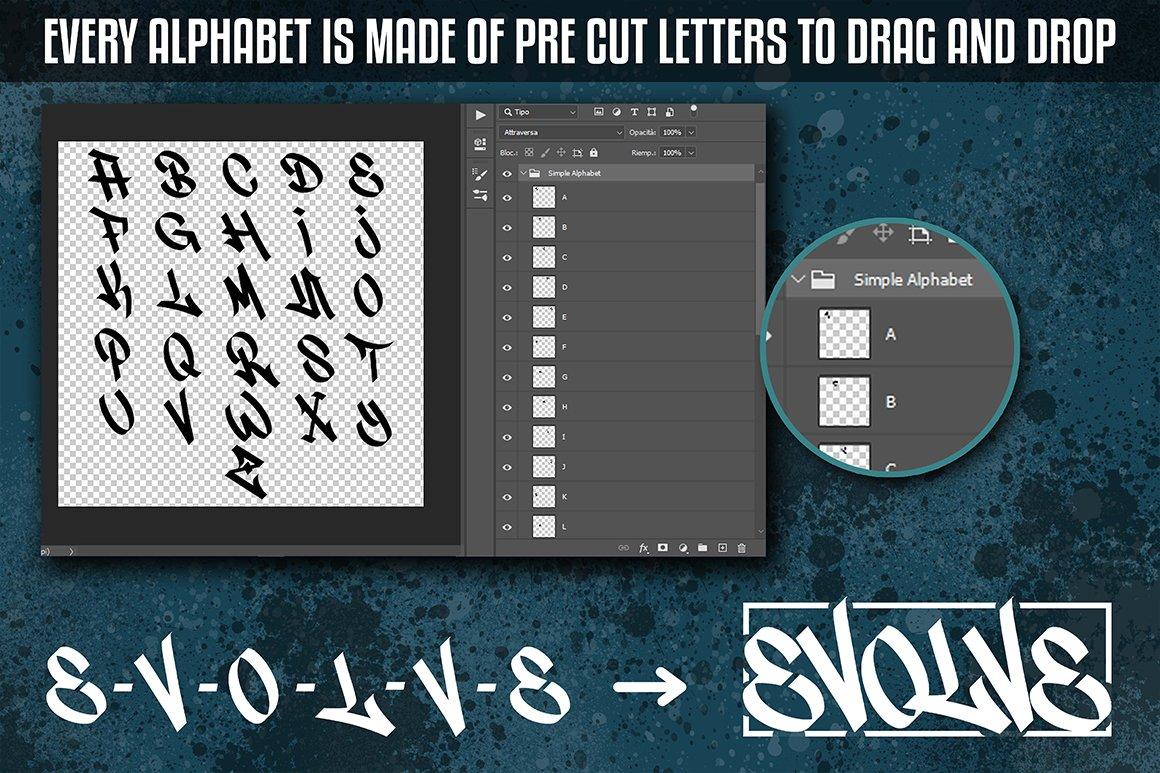 [单独购买] 潮流街头嘻哈涂鸦喷涂效果PS笔刷设计素材套件 Ultimate Photoshop Graffiti Kit插图10