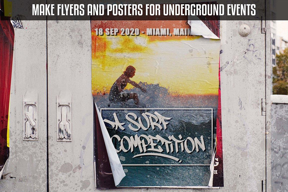 [单独购买] 潮流街头嘻哈涂鸦喷涂效果PS笔刷设计素材套件 Ultimate Photoshop Graffiti Kit插图12