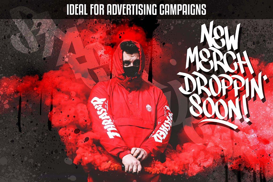 [单独购买] 潮流街头嘻哈涂鸦喷涂效果PS笔刷设计素材套件 Ultimate Photoshop Graffiti Kit插图14