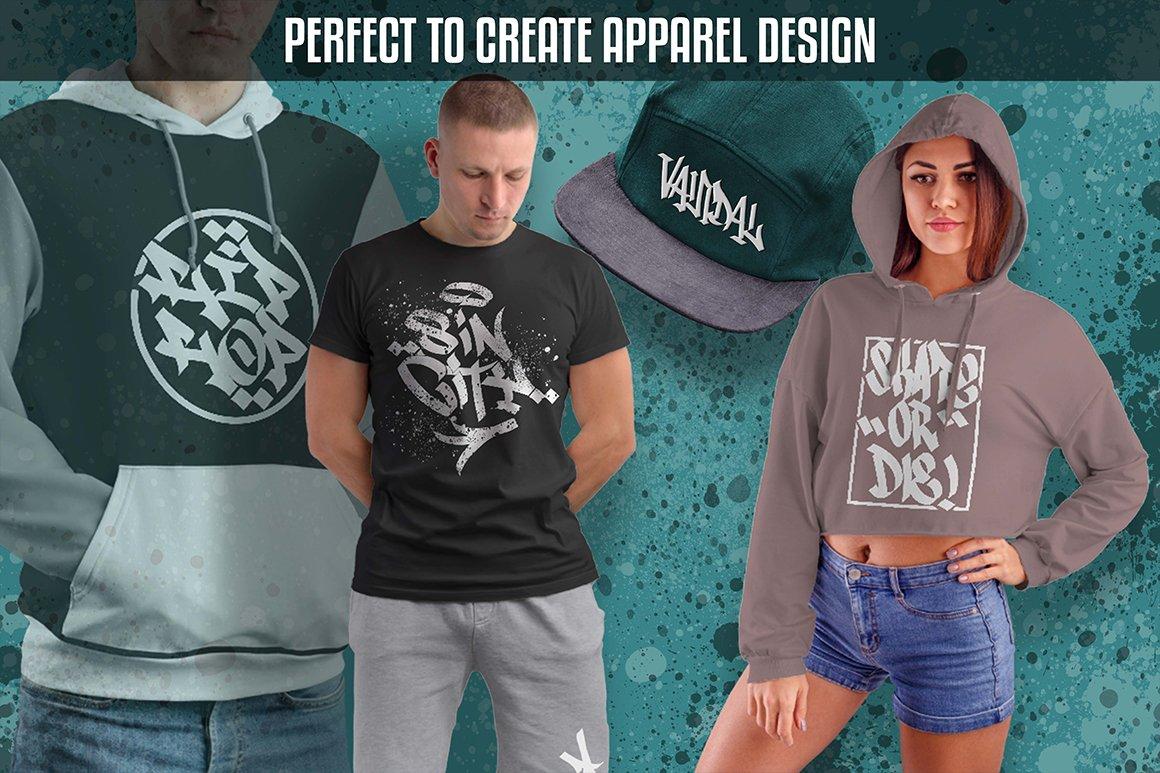 [单独购买] 潮流街头嘻哈涂鸦喷涂效果PS笔刷设计素材套件 Ultimate Photoshop Graffiti Kit插图7