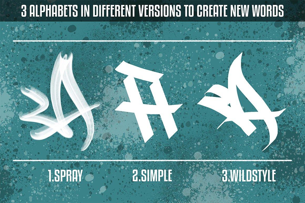 [单独购买] 潮流街头嘻哈涂鸦喷涂效果PS笔刷设计素材套件 Ultimate Photoshop Graffiti Kit插图9