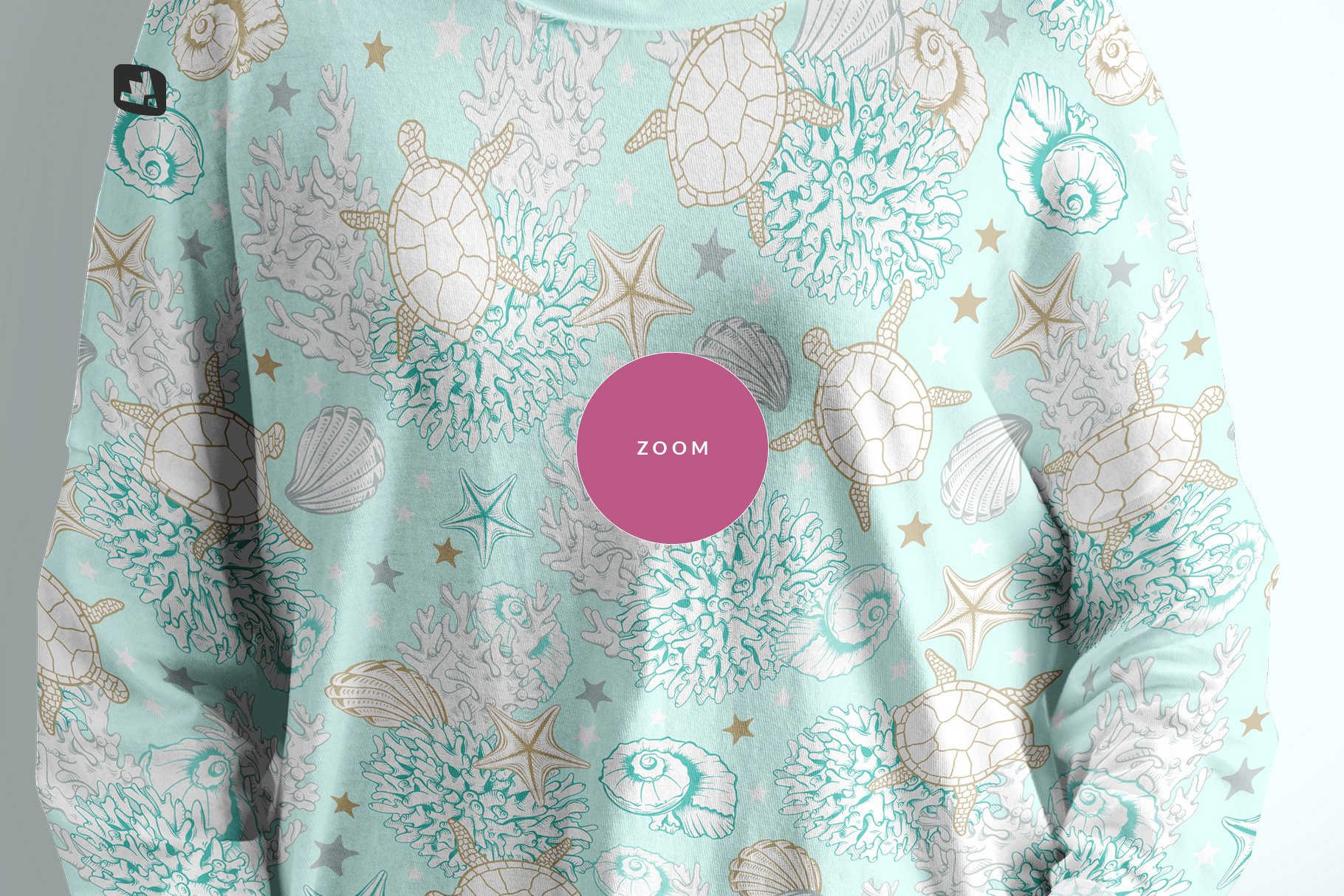 女士半袖T恤印花图案设计展示贴图样机模板素材 Womens Full Sleeve Tshirt Mockup插图5