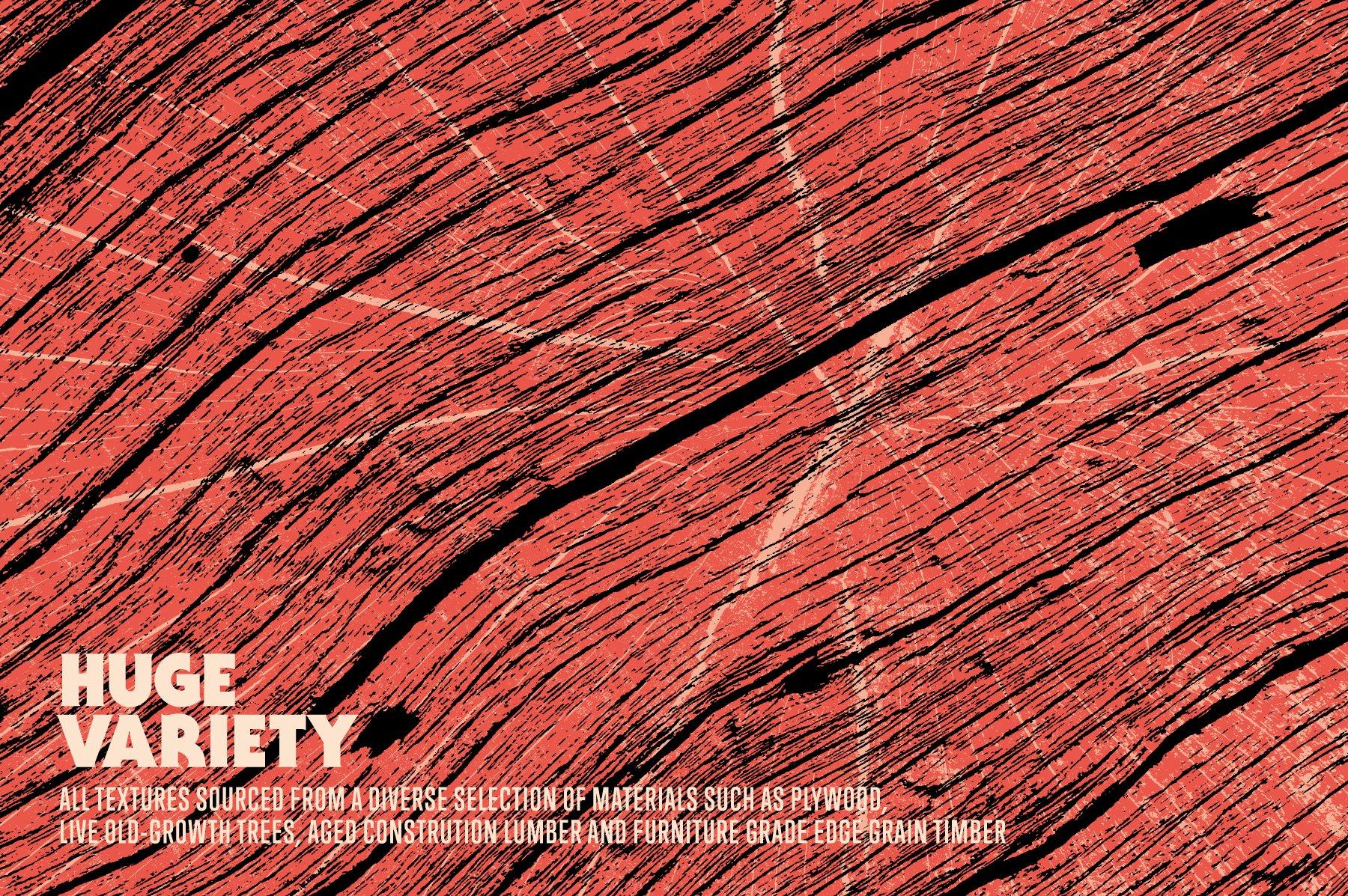[单独购买] 74款潮流粗糙做旧木纹纹理背景图片PS设计素材 Wood Grain Texture Pack插图1