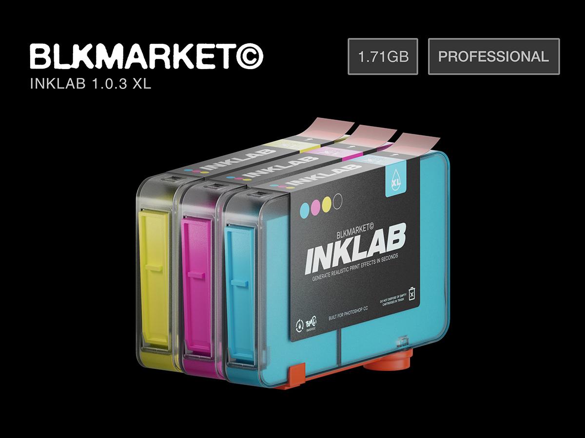 [单独购买] 潮流复古图片半调RISO印刷效果生成PS扩展插件素材 Blkmarket – Inklab V1.0.3 PS CC Extension插图