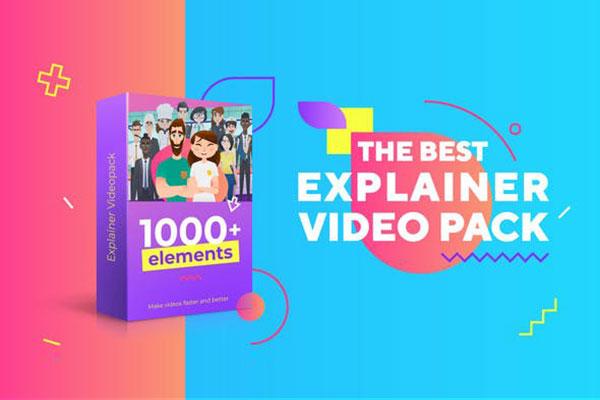 [单独购买] 扁平化卡通人物角色动作解说场景MG动画预设AE插件素材 The Best Explainer Video Toolkit插图