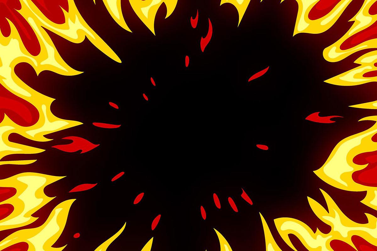 [单独购买] 150个4K高清动漫卡通火焰烟雾能量电流爆炸转场MG元素包PR+AE动画模板  BusyBoxx – V06 Comic FireFX插图