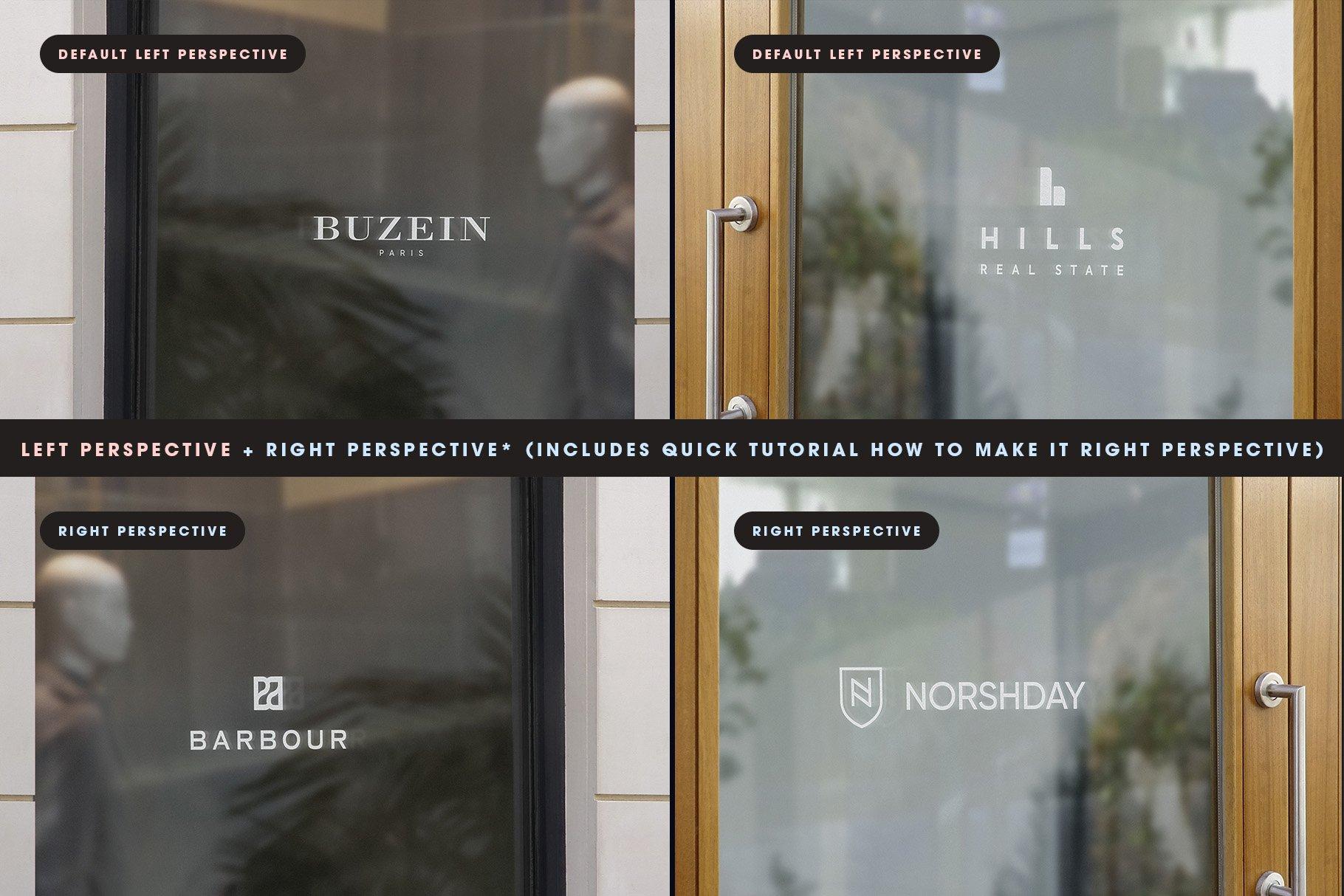 [单独购买] 25款街头门店玻璃窗户徽标标牌Logo设计展示样机模板合集 25 Window Signs Logo Mockups – V2插图2