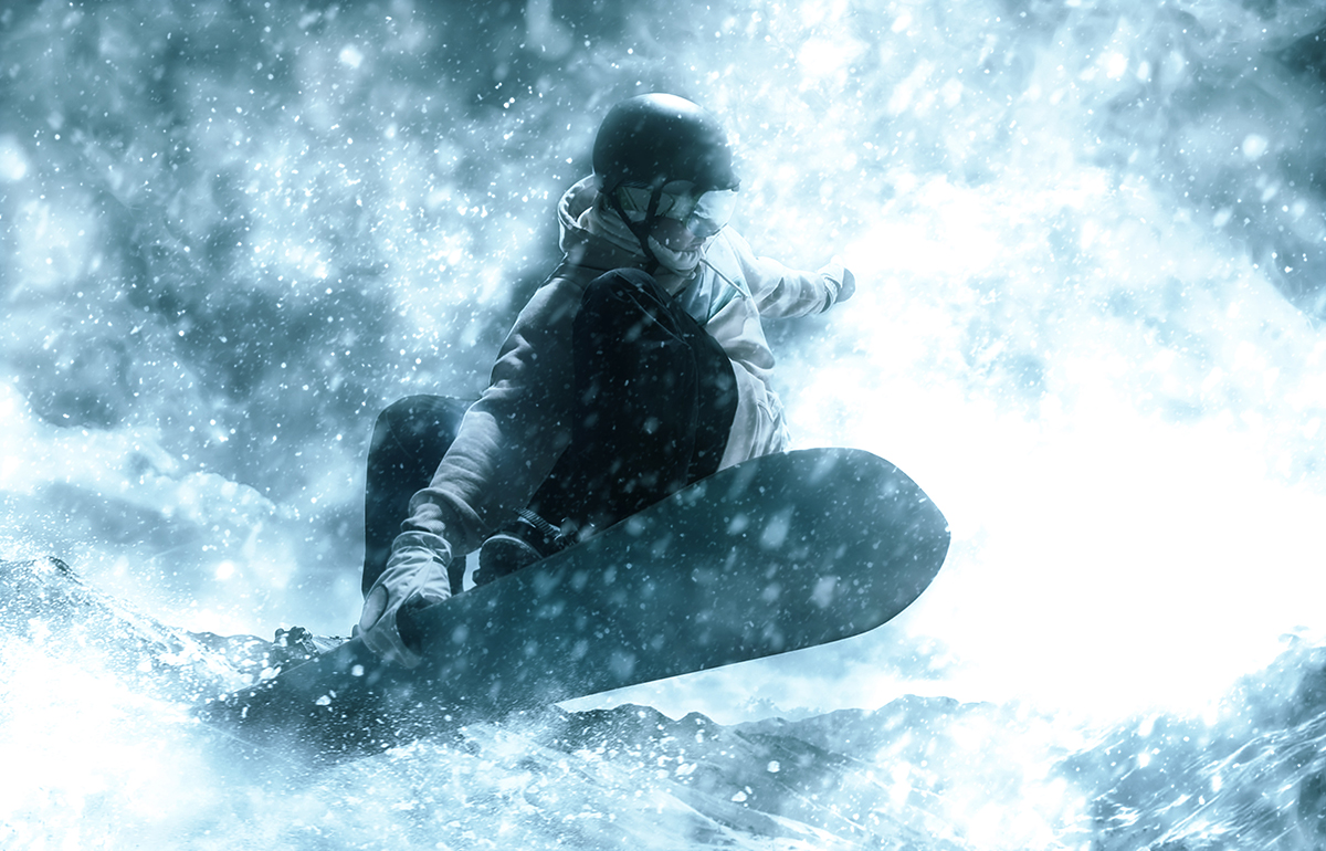 梦幻暴风雪效果照片处理特效PS动作模板 Ice Storm Action for Photoshop CS6+插图3