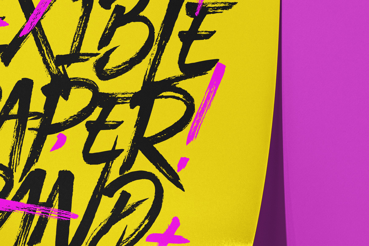 立式传单海报设计PS智能贴图样机模板 Psd Paper Brand Scene Mockup插图2
