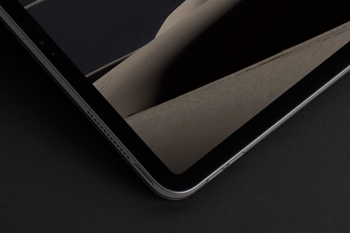 优雅APP界面设计iPad Pro平板电脑屏幕演示样机模板 Landscape Cover Psd iPad Pro Mockup插图1