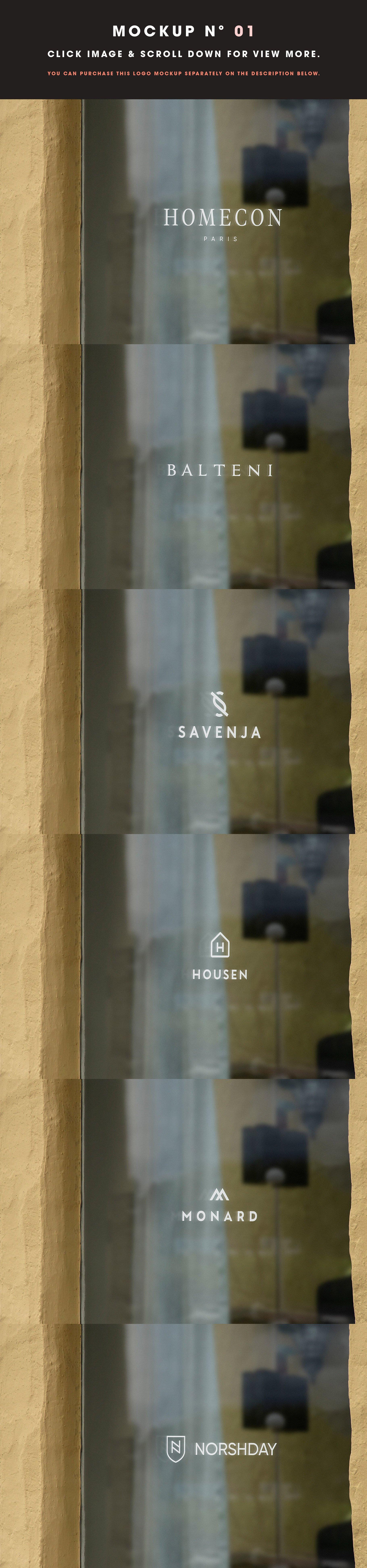 [单独购买] 25款街头门店玻璃窗户徽标标牌Logo设计展示样机模板合集 25 Window Signs Logo Mockups – V2插图3