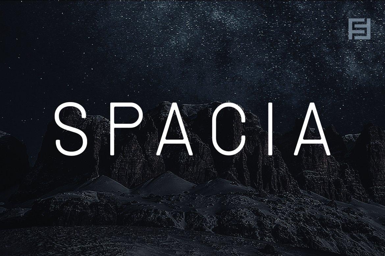 现代时尚杂志海报标题徽标Logo设计无衬线英文字体素材 SPACIA – Unique & Modern Display Typeface插图