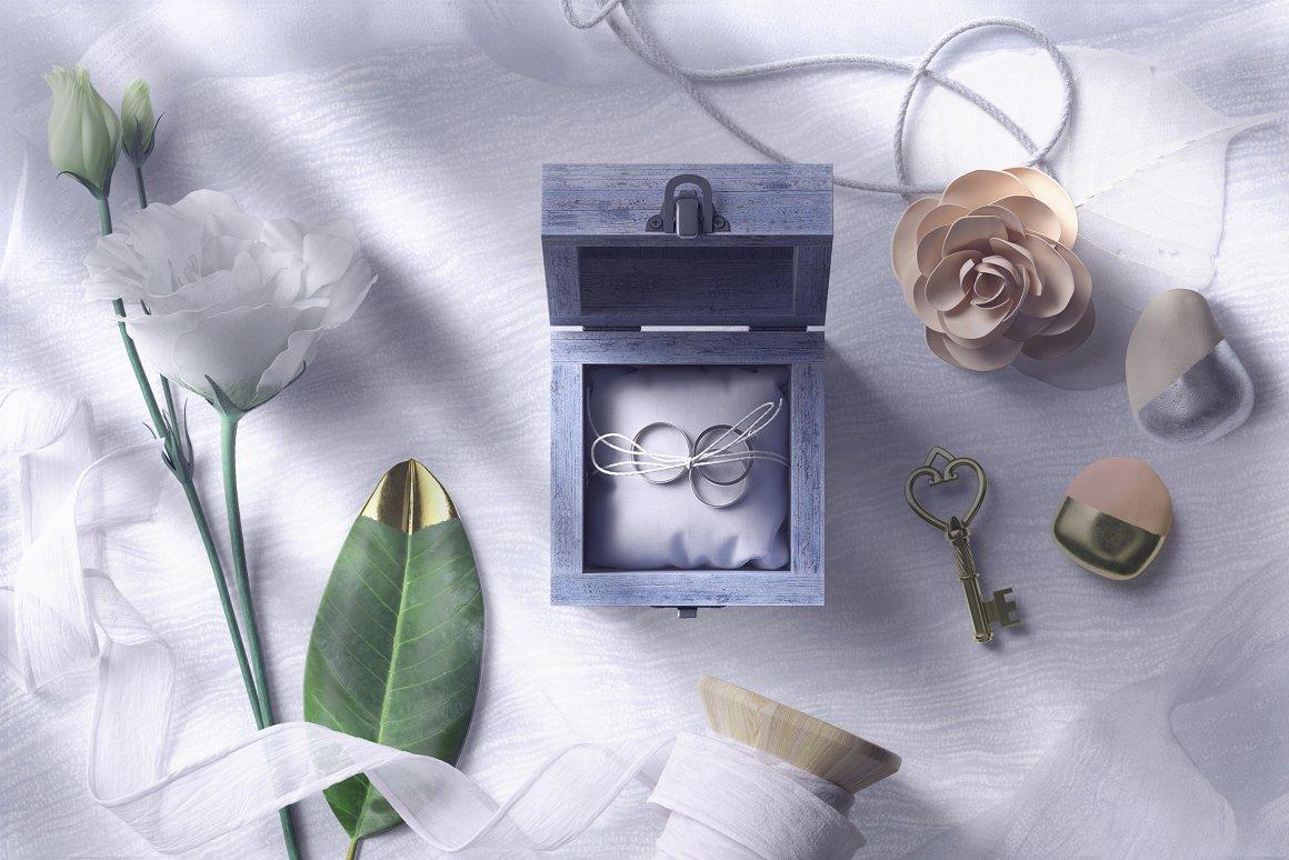 [单独购买] 17款超大婚礼品牌设计场景展示样机创建者模板PS素材包 Wedding Mockup Scene Creator插图1