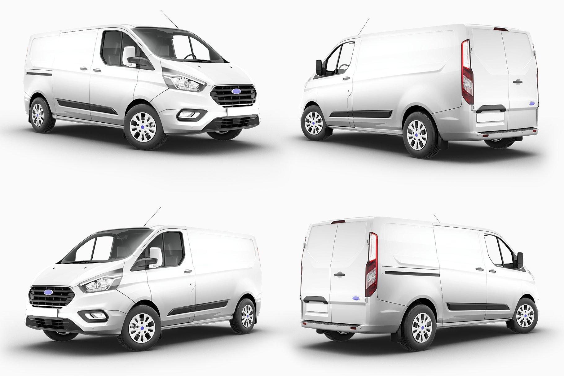 8个封闭面包货车车身广告设计展示样机模板 Van Mockup 14插图10
